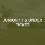 Junior golfer swinging club